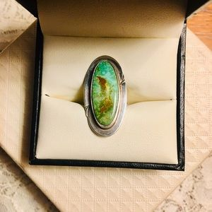 Natural, Vibrant Turquoise Statement Ring